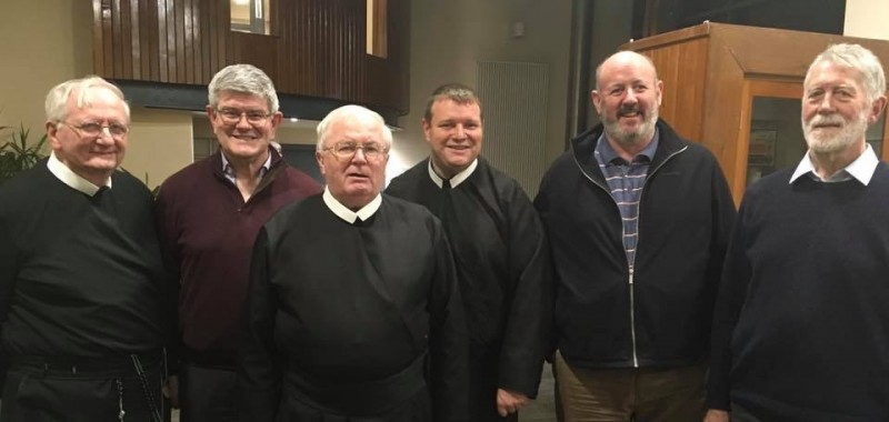 The newly elected Leadership Team at the 2019 Chapter held in Dromantine Conference Centre. Fr. Brendan Callanan CSsR, Fr. Ciaran O'Callaghan (Vicar Provincial and First Consultor), Fr. Dan Baragry (Provincial), Fr. Brian Nolan CSsR, Fr. Gerry O'Connor CSsR (Second Consultor) and Fr. Patrick O'Keeffe CSsR.  May God bless them and guide them in their work over the next four years.